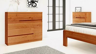 Dřevěná komoda z masivu PALERMO, Materiál: Masiv Dub, Odstín: Olej Orange Braun #10