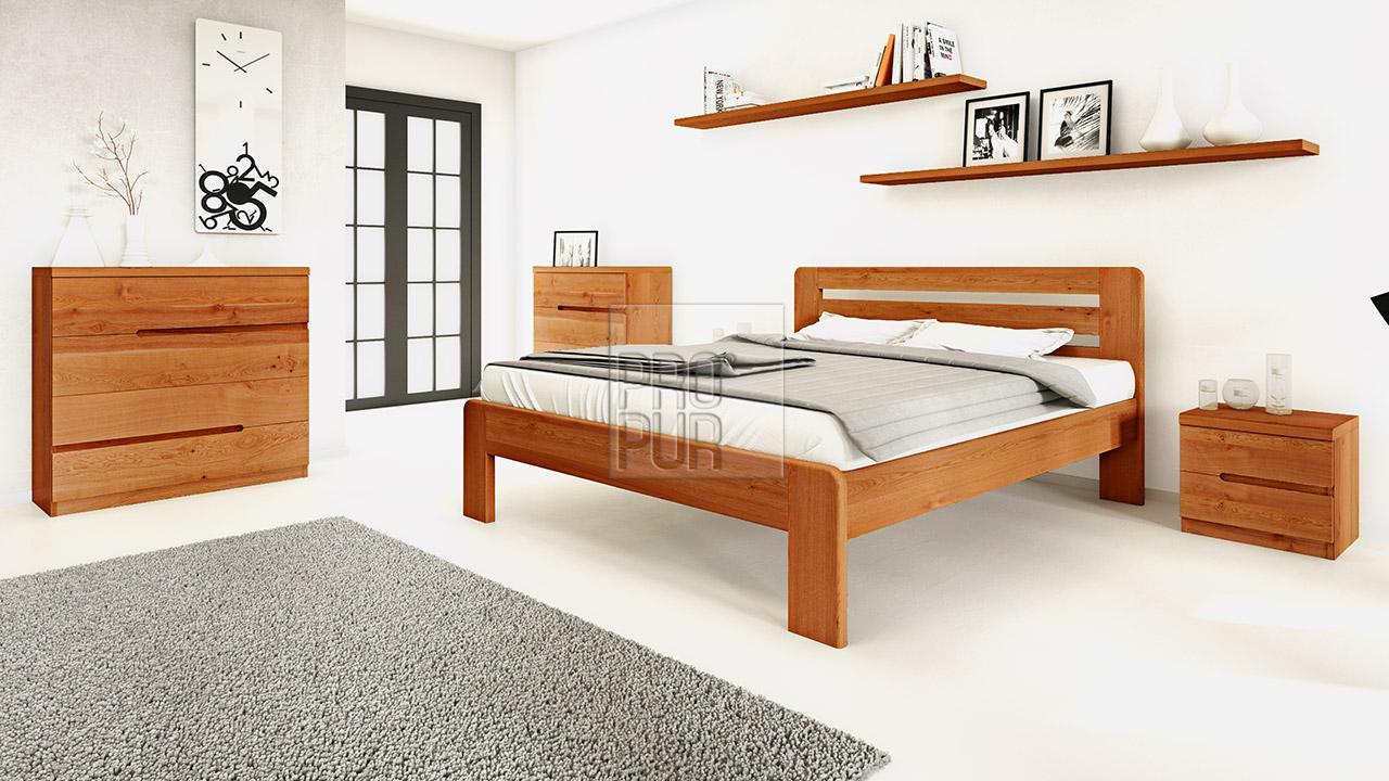 Dřevěná komoda z masivu PALERMO, Materiál: Masiv Dub, Odstín: Olej Orange Braun #11