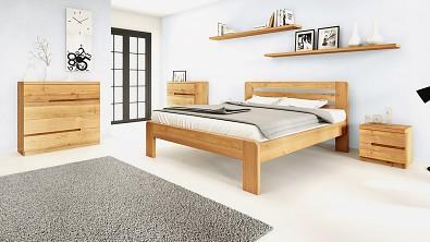 Dřevěná komoda z masivu PALERMO, Materiál: Masiv Dub, Odstín: Olej BIOFA Transparent #07