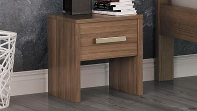 Noční stolek COMODINO z masivu Buk, Odstín Olej Grau
