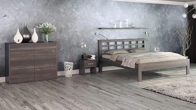 Noční stolek COMODINO z masivu Buk, Odstín Olej Grau Blau