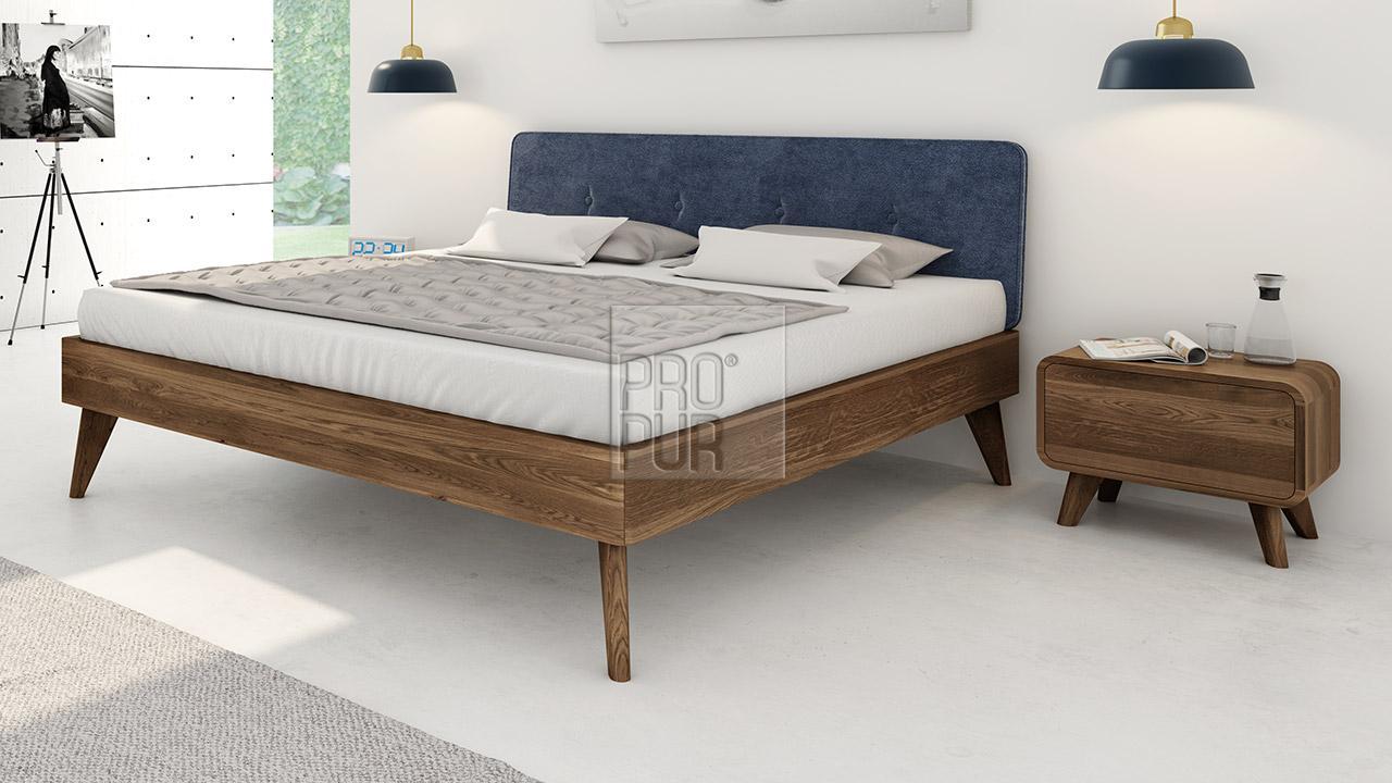 Noční stolek z masivu DEIRA, Materiál: Masiv Dub, Odstín: Olej Grau#07