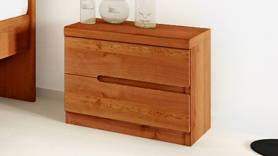 Dřevěný noční stolek z masivu PALERMO, Materiál: Masiv Dub, Odstín: Olej Orange Braun #11