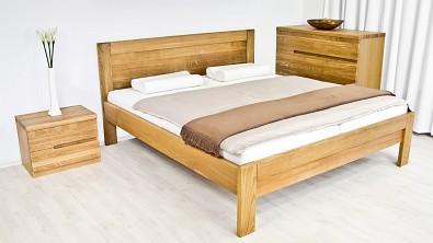 Dřevěný noční stolek z masivu PALERMO, Materiál: Masiv Dub, Odstín: Olej BIOFA Transparent #06