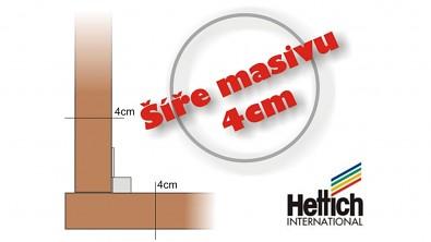 Použitá šíře masivu 4 cm.