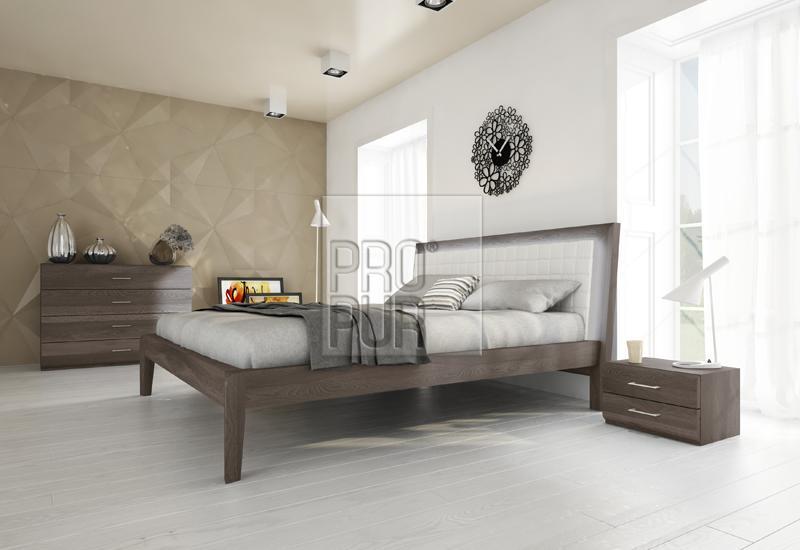 Moderní postele z masivu Bergamo buk - Olej BIOFA Grau Blau