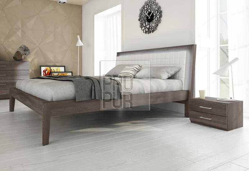 Dvoulůžková postel Bergamo - Olej BIOFA Grau Blau