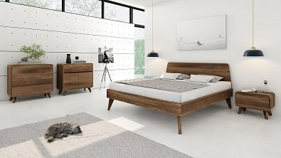 Designová postel z masivu CORTINA, Materiál: Masiv Dub, Odstín: Olej Garu #02