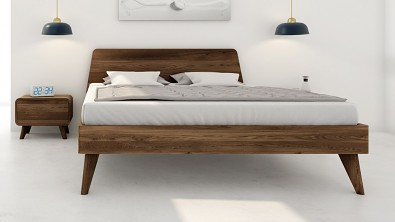 Designová postel z masivu CORTINA, Materiál: Masiv Dub, Odstín: Olej Garu #03
