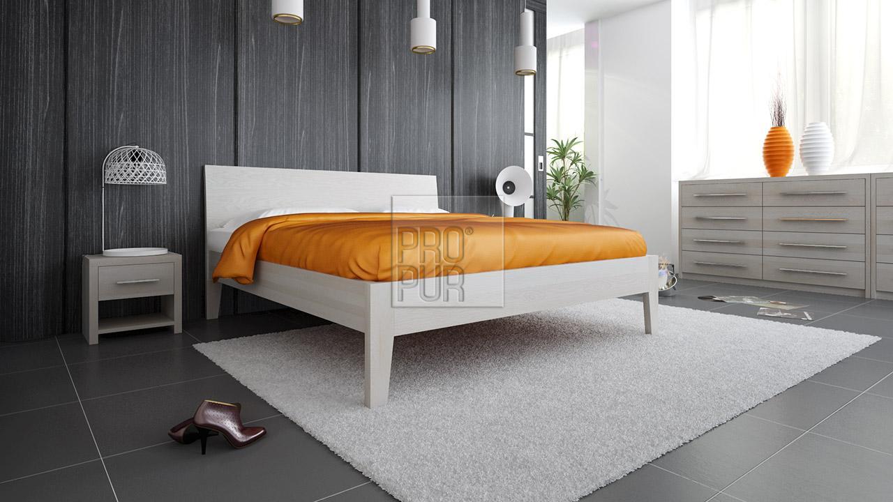 Postel z masivu IBIZA, Materiál: Masiv Buk, Odstín: Olej Nordic White #02