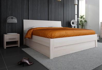postel s úložným prostorem z masvu buk Ibiza