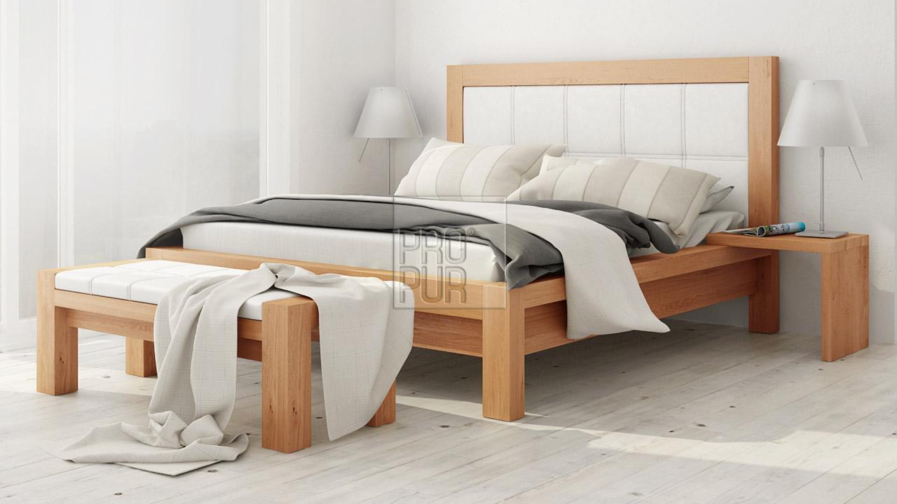 Designová postel z masivu MODENA, Materiál: Masiv Buk, Odstín Olej BIOFA Transparent #06