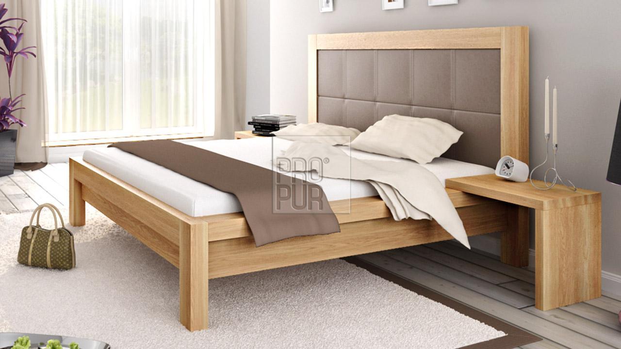 Designová postel z masivu MODENA, Materiál: Masiv Dub, Odstín Olej BIOFA Transparent #10