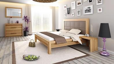 Designová postel z masivu MODENA, Materiál: Masiv Dub, Odstín Olej BIOFA Transparent #11
