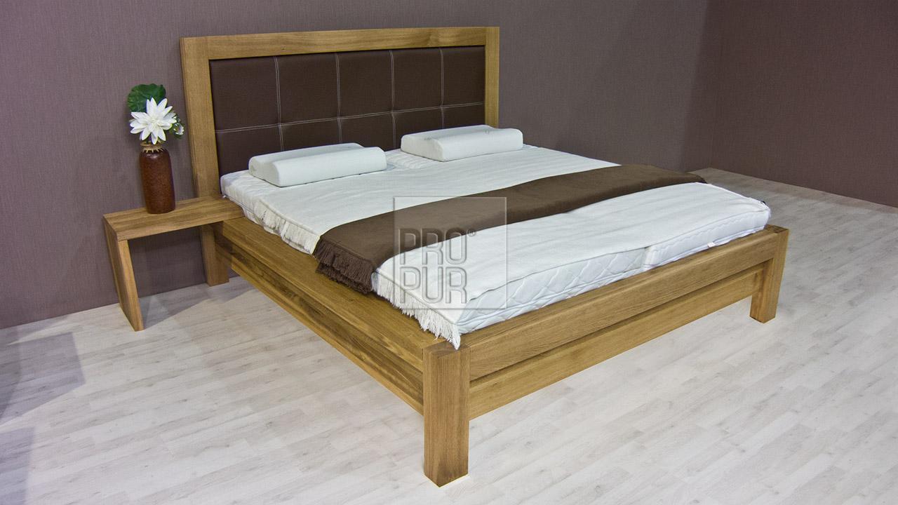 Designová postel z masivu MODENA, Materiál: Masiv Dub, Odstín Olej BIOFA Transparent #09