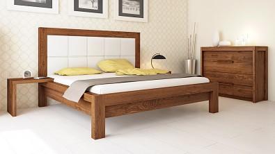 Designová postel z masivu MODENA, Materiál: Masiv Dub, Odstín Olej Nuss Braun #04