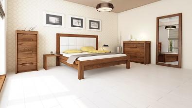 Designová postel z masivu MODENA, Materiál: Masiv Dub, Odstín Olej Nuss Braun #05