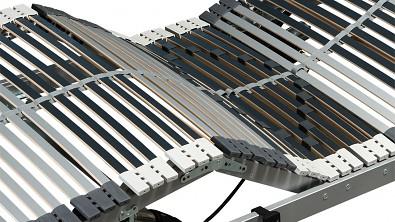 Lamelový rošt ELEGANCE 42 motorové polohování hlavové a nožní části, 2 motory Hettich, bezdrátový ovladač #03