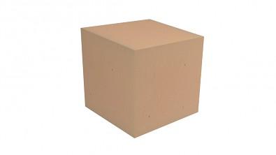 Molitanová kostka 15 x 15 cm, oranžová